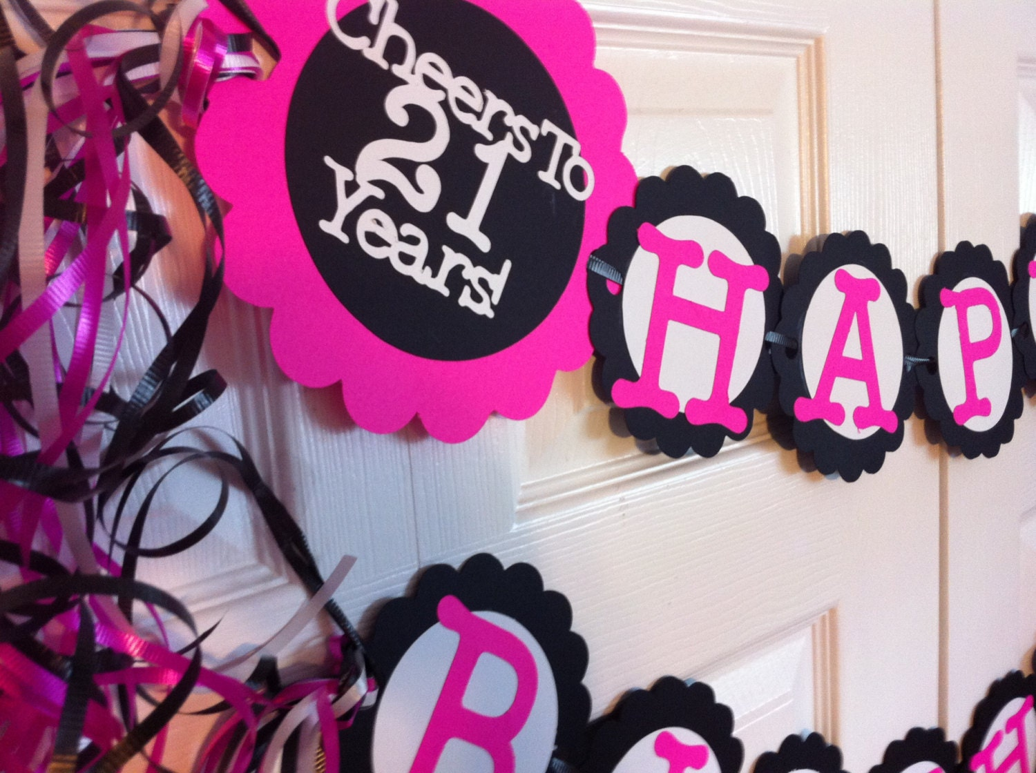 21st Birthday Party Decorations Personalization Available