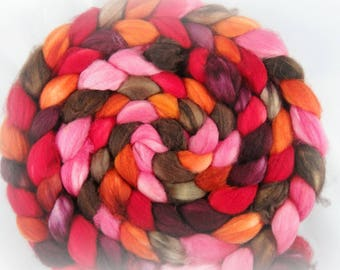 Blood Roses, on Merino Combed Top 4oz.