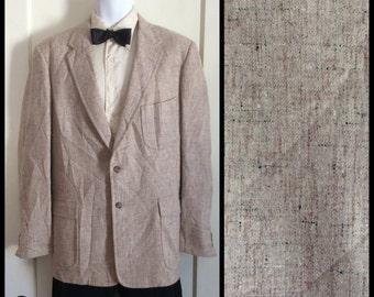 Vintage 1950's Atomic Speckled Fleck Wool Suit Jacket Coat looks size Large
