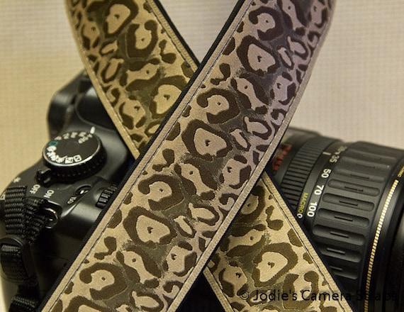 "Camera Strap Cheetah in 1.5"" Wide Custom Padded Fits DSLR SLR 3400"