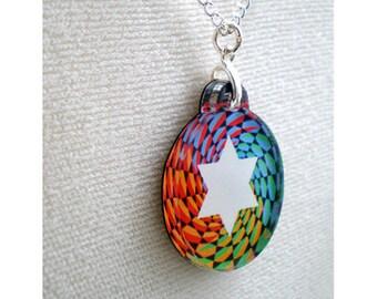 Jewish Star - Rainbow Pendant