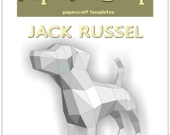 Papercraft Jack Russel download, 2018 year of the dog