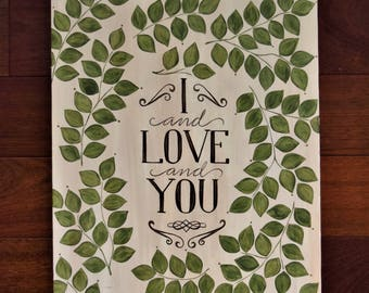 I Love You Avett Brothers Lyrics Alternative Guestbook Wedding Family Tree Vines Guests Cream Olive Green Decorations Signs