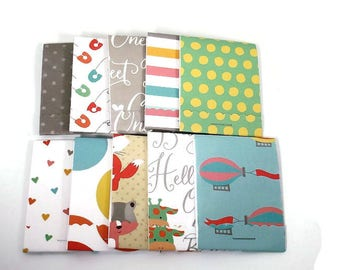 Set of 24 Matchbook Notepads  Baby Shower Favors Mini Note Pads in Hello Little One