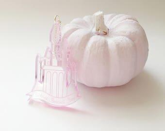 Disney princess. gift for her. Pink Cinderella Castle Necklace. disney gifts. cinderella necklace. cinderella jewelry. Disney cinderella