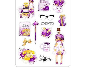 """LovedbyGaby stickers """"Let's plan"""""""