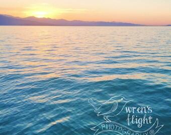 Utah Lake Sunset - Digital Download - Cheerful and Bright Fine Art Photography