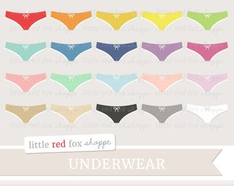 Underwear Clipart, Bikini Clip Art, Panties Clipart, Panty Clipart, Lingerie Clipart, Cute Digital Graphic Design Small Commercial Use