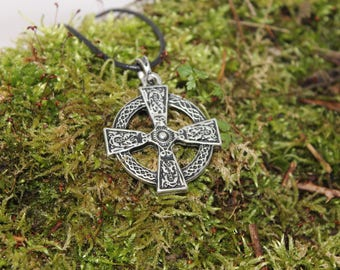 Celtic Cross, silver finish pendant