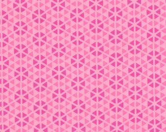 HUBBA HUBBA - Hexi Geometric in Pink - Bold Fun Flirty Cotton Quilt Fabric - My Sister & Me Designs for Moda Fabrics - 22214-11 (W3955)