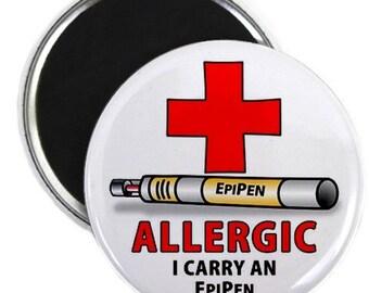 Allergy Alert EpiPen Medical Alert Fridge Magnet (Choose Size)