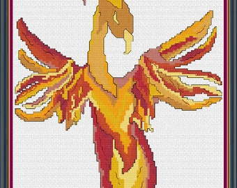 Phoenix Rising Printed Pattern