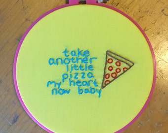 Pizza embroidery