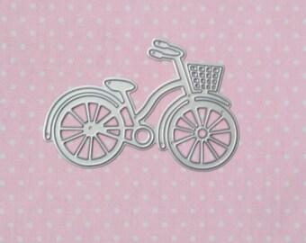 die cut bicycle. Die cut