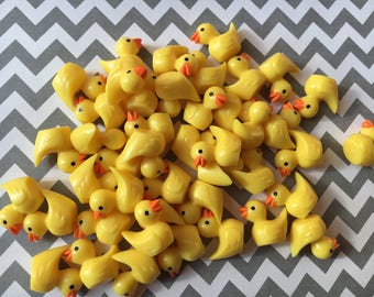 20pc. Yellow Rubber Duck, resin Cabochon