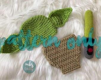 Crochet Newborn Alien Pattern