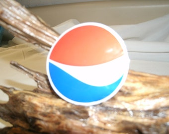 """Fridge Magnet/ Locker Magnet with Pepsi logo  free shipping  displayed on a wood sculpture featured in my store """"ReclaimedValuables"""""""