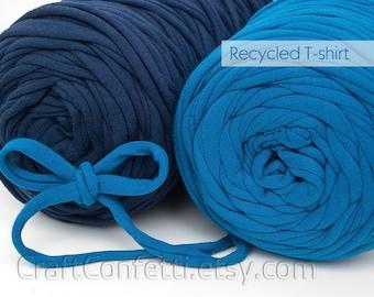 T-Shirt yarn Spaghetti yarn T shirt yarn Recycled yarn Fabric yarn Tee shirt yarn Chunky cotton yarn Necklaces yarn Home decor yarn / 5m