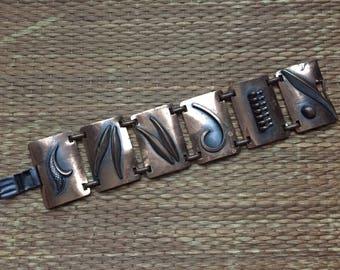 vintage 1960s copper bracelet