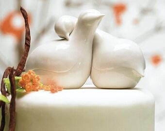 Contemporary Love Birds Wedding Cake Top Decorations, Wedding Cake Topper, Love Bird Cake Topper