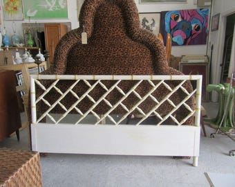 Bamboo Chippendale Headboard