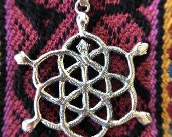 Andean Blossoming into Fulfillment Serpent Pendant