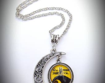 Nightmare before Christmas Jack and Sally inspired necklace