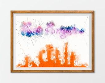 Los Angeles Print Poster Art Skyline