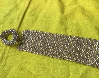 Handmade Gold Netted Bracelet