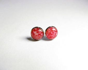 FREE SHIPPING // Red Coral Stud Earrings // Red Coral Earrings // Red Coral Jewelry // Coral Earrings // Coral Jewelry // Red Earrings