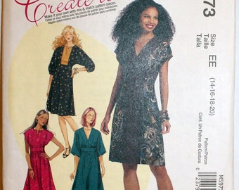 McCall's 5973 Create it! Mid-knee length Dress   Size 14-16-18-20  New  Uncut