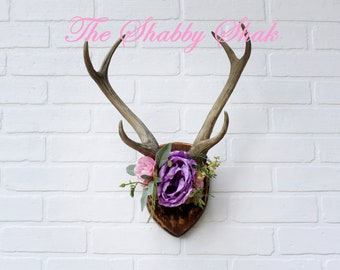Antlers with Flower Crown,Gift For Her,Purple,Antler Gifts