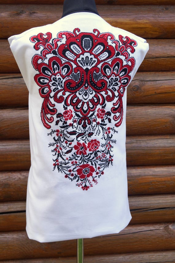 embroidery blouse with stitch embroidery Thread embroidery embroidered cross ukrainian blouse handmade ornament ZwdxOa