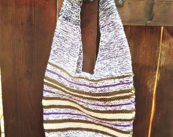 Varying Stripes Knit Bag