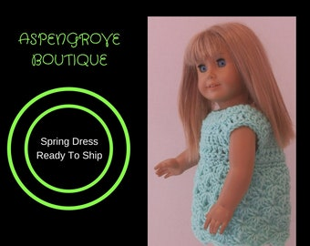 18 inch doll summer sundress easter ready to ship
