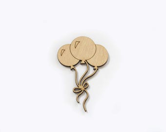 Balloons -  Laser Cut Out Unfinished Wood Shape Craft Supply Shapes Wood Embellishment Craft Decoration Gift Decoupage