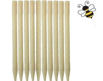 10 Pack 100% Natural Beeswax Ear Candle -