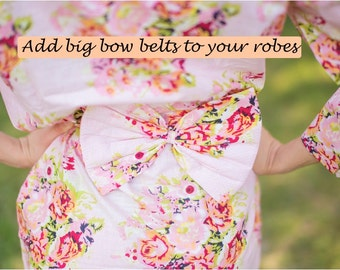 Add big bow belts to your robes