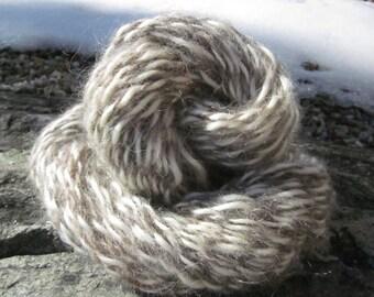 Mohair blanc pur et naturel laine gris fils de Bure