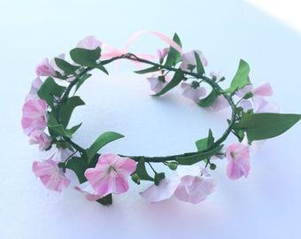wreath with field flowers bindweed