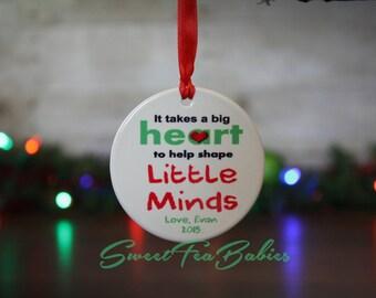 Gift for teacher, Teachers gift, teachers ornament, teacher gift, teacher ornament, custom ornament, Christmas ornament