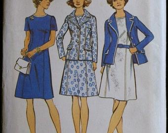 Simplicity 6214  Vintage 70s Dress and Jacket Pattern Sz 12
