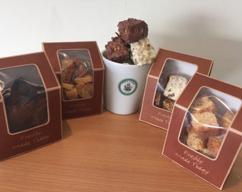 Chocolate/brownie/brownie bites/homemade/140gram boxes/3 boxes/dark chocolate/freshly baked/rich cake/made to order/gift/birthday/christmas