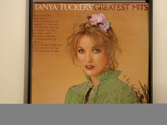 Glittered Record Album - Tanya Tucker - Tanya Tucker's Greatest Hits
