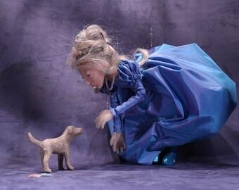 puppet doll, handmade, marionettes, Cinderella in puppet