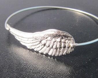 Wing of an Angel Bracelet, Faith Jewelry, Angel Jewelry for Grandma, Faith Bracelet for Mom