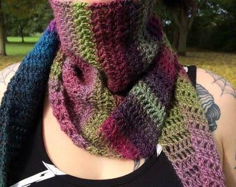 Scarf / crochet / autumn / fall / winter / bohemian / festival / gypsy / hippie / Boho chic / folk / shawl /