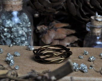 Messy Twig Wire Ring