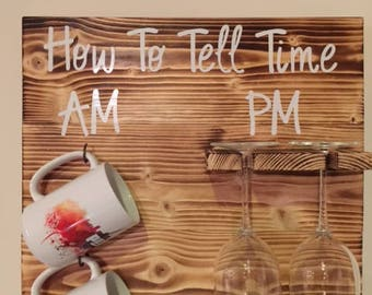How To Tell Time Wine / Coffee Rack (Inc. FREE SHIPPING)
