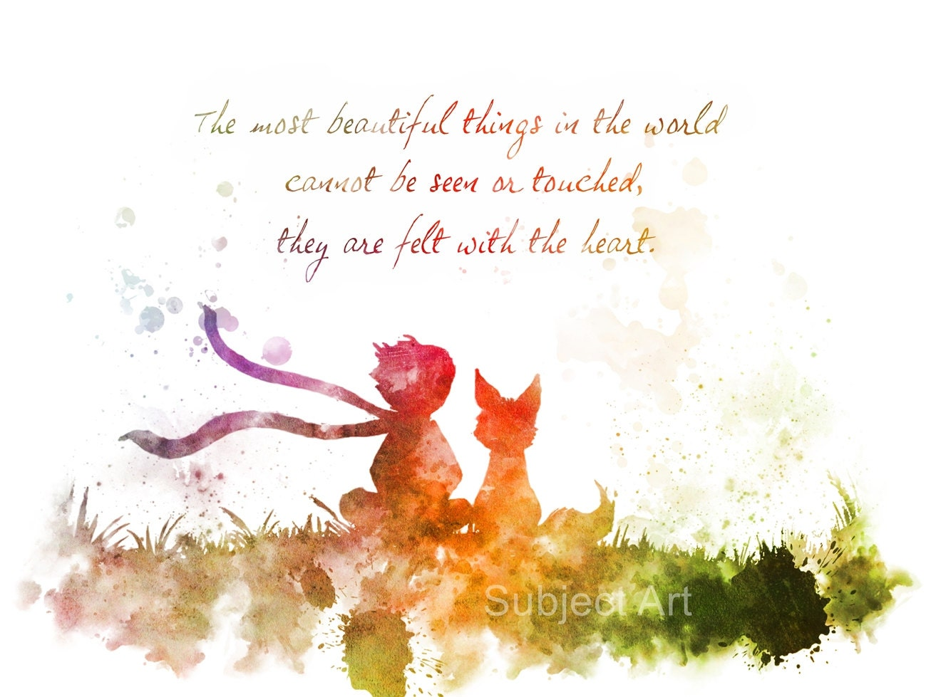 The Little Prince Inspired Quote 2nd Edition ART PRINT